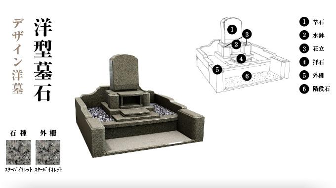 デザイン洋墓「洋型墓石」